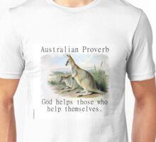 God Helps Those - Australian Proverb Unisex T-Shirt