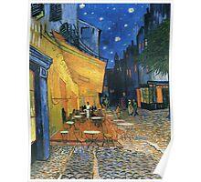 Vincent Van Gogh -Cafe Terrace at Night .Van Gogh -Cafe Terrace at Night Poster