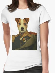 Captain Jack Russell  Womens Fitted T-Shirt