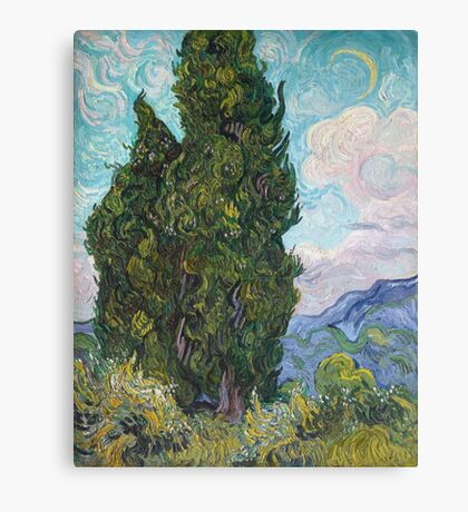 Vincent Van Gogh - Cypresses .  Van Gogh - Cypresses  Canvas Print