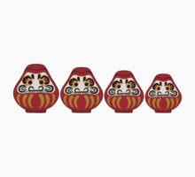 Daruma russian nesting doll style Kids Tee