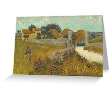 Vincent Van Gogh - Farmhouse In Provence. Van Gogh -French  Landscape  Greeting Card