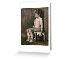 1886-Vincent van Gogh-Nude girl, seated Greeting Card