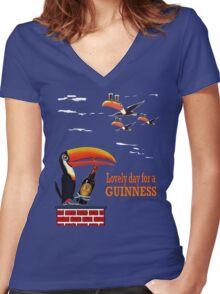 LOVELY DAY FOR A GUINNESS Women's Fitted V-Neck T-Shirt