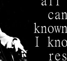 He Knows All - Twain Sticker