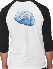 EARTH, PLANET, SPACE, Blue planet, Earthrise, Apollo 8, 1968 Men's Baseball ¾ T-Shirt