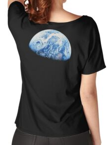 EARTH, PLANET, SPACE, Blue planet, Earthrise, Apollo 8, 1968 Women's Relaxed Fit T-Shirt