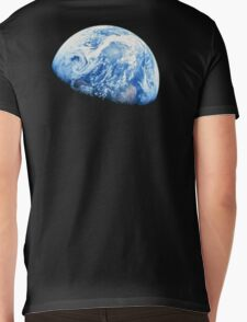 EARTH, PLANET, SPACE, Blue planet, Earthrise, Apollo 8, 1968 Mens V-Neck T-Shirt