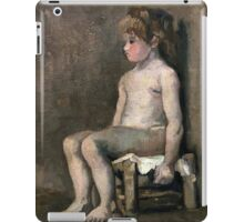 1886-Vincent van Gogh-Nude girl, seated iPad Case/Skin