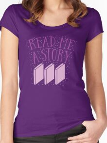 Read me a story Women's Fitted Scoop T-Shirt