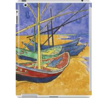 Vincent Van Gogh - Fishing Boats On The Beach iPad Case/Skin
