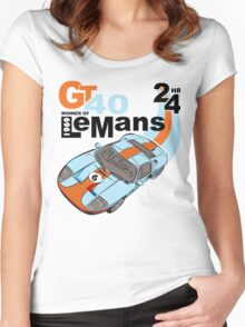 NEW Classic Ford GT40 T-shirt Women's Fitted Scoop T-Shirt