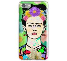 Frida Kahlo with the Man In The Moon iPhone Case/Skin