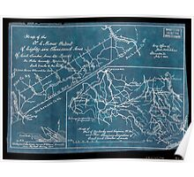 192 Map of the NC Morse patent of eighty-six thousand acres of coal timber iron etc lands in Pike County Kentucky ; Map of part of Kentucky and Virginia W Va Inverted Poster