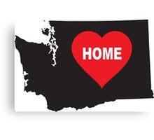 Washington State is Home Canvas Print