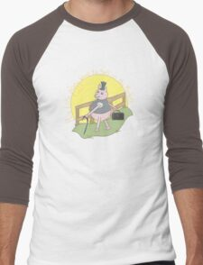 This little piggy went to sell on the markets... Men's Baseball ¾ T-Shirt