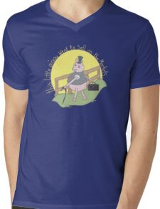 This little piggy went to sell on the markets... Mens V-Neck T-Shirt