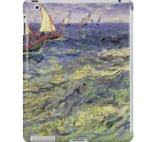 Vincent Van Gogh - Seascape At Saintes-Maries View Of Mediterranean .  Seascape. Van Gogh -Seascape iPad Case/Skin