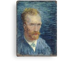 Vincent Van Gogh - Self Portrait -Van Gogh - Self Portrait Canvas Print