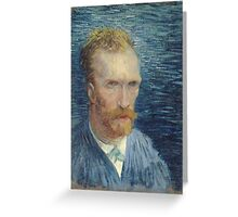 Vincent Van Gogh - Self Portrait -Van Gogh - Self Portrait Greeting Card
