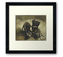 Vincent Van Gogh - Shoes - Van Gogh - Shoes  Framed Print