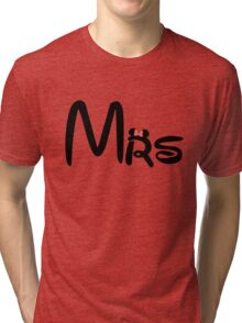 Honeymoon Mr and Mrs T-shirts Tri-blend T-Shirt
