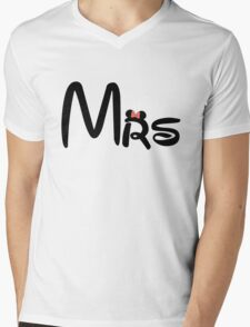 Honeymoon Mr and Mrs T-shirts Mens V-Neck T-Shirt