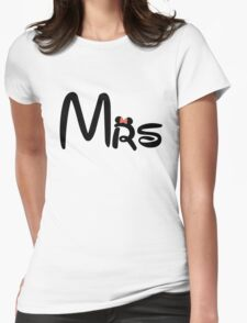 Honeymoon Mr and Mrs T-shirts Womens Fitted T-Shirt