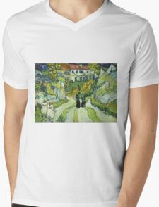 Vincent Van Gogh - Stairway At Auvers  Mens V-Neck T-Shirt
