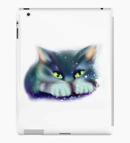 Cat playing with snow iPad Case/Skin