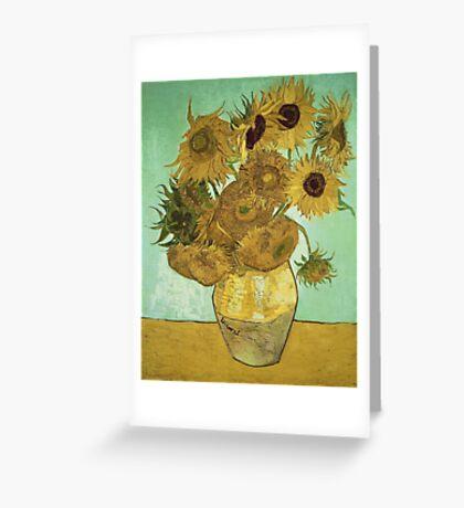 Vincent Van Gogh - Sunflowers  Greeting Card