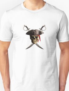 Pirate Skull And Swords Unisex T-Shirt