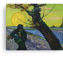 Vincent Van Gogh - The Sower . Sun Canvas Print