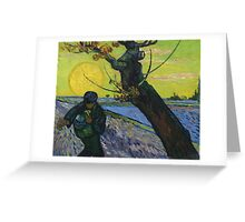 Vincent Van Gogh - The Sower . Sun Greeting Card