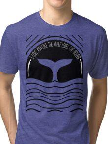 Whale at sunset Tri-blend T-Shirt