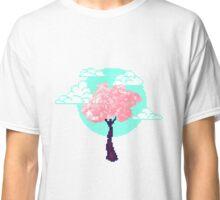 Cherry Blossom Pixel Classic T-Shirt