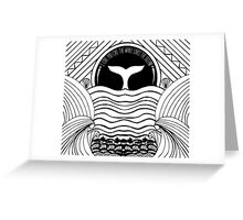 Whale at sunset Greeting Card
