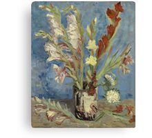 Vincent Van Gogh - Vase With Gladioli And Chinese Asters  Canvas Print