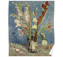 Vincent Van Gogh - Vase With Gladioli And Chinese Asters  Poster