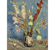 Vincent Van Gogh - Vase With Gladioli And Chinese Asters  Photographic Print