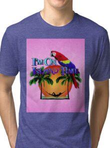 Island Time Pink Tri-blend T-Shirt