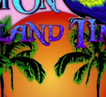 Island Time Pink Sticker