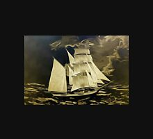 A digital painting, as an old style print, of a True Brigantine Unisex T-Shirt