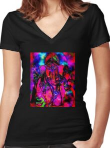 Ganesh Women's Fitted V-Neck T-Shirt