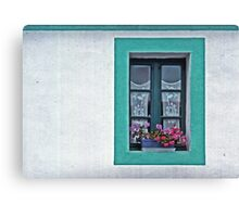 A Window in Brittany Canvas Print