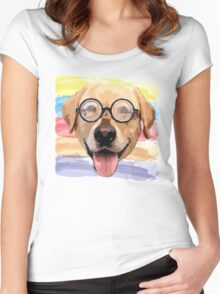 Golden Dog Women's Fitted Scoop T-Shirt
