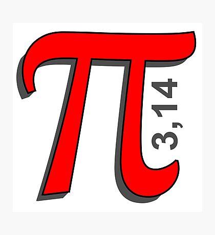 Pi Symbol Photographic Print