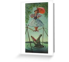 Haunted mansion umbrela Greeting Card