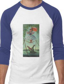Haunted mansion umbrela Men's Baseball ¾ T-Shirt