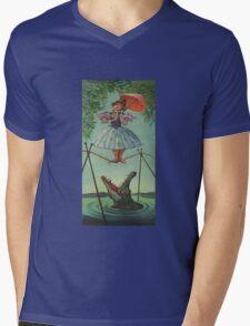 Haunted mansion umbrela Mens V-Neck T-Shirt